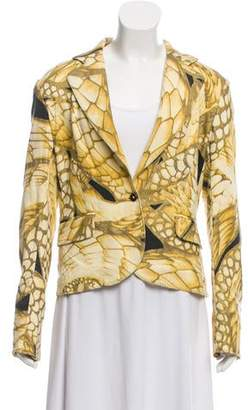 Just Cavalli Print Denim Blazer