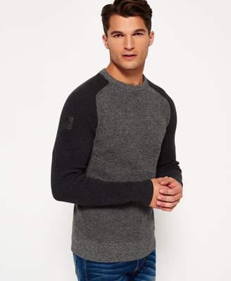 Superdry Surplus Goods Baseball Crew Neck Sweater