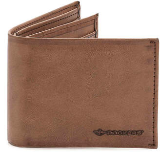 Dockers Extra Capacity Leather Wallet - Men's