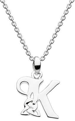 Heritage Sterling Silver Celtic Initial K Necklace of Length 45.7cm