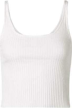 calé Gigi Cropped Ribbed Stretch-knit Tank