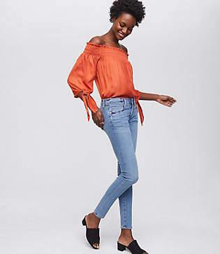 LOFT Modern Softest Skinny Jeans in Classic Light Indigo Wash