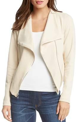 Karen Kane Faux-Suede Moto Jacket