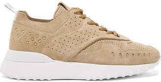 Tod's Perforated Suede Sneakers - Sand