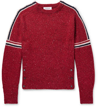 Thom Browne Striped Wool And Mohair-Blend Sweater