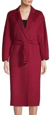 Max Mara Giungla Virgin Wool& Angora Wrap Coat
