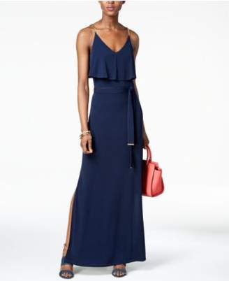 MICHAEL Michael Kors Chain-Embellished Popover Maxi Dress