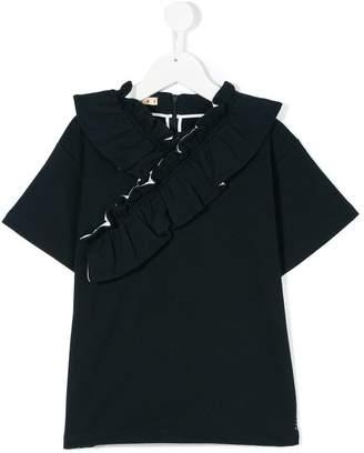 Marni ruffle trim T-shirt