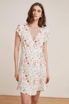 Velvet by Graham & Spencer AMAURY SPRING FLORAL CHALLIS WRAP DRESS