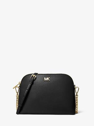 Michael Kors Large Crossgrain Leather Dome Crossbody Bag