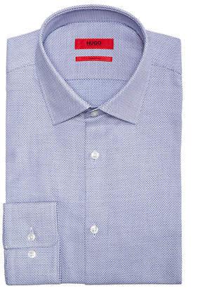 HUGO BOSS HUGO Men's Slim-Fit Birdseye Dress Shirt