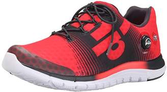 Reebok Mens Zpump Fusion Neon Cherry/Gravel/White Running Shoe 10.5 Men US