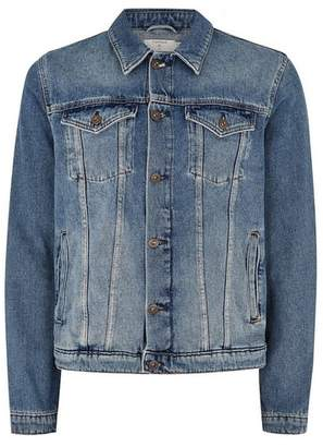 Topman Mens Blue Denim Jacket
