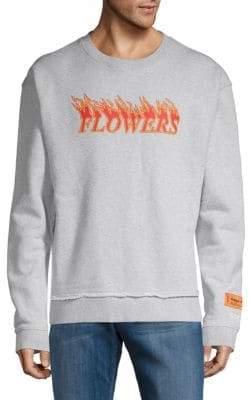 Heron Preston Flowers Cotton Sweatshirt
