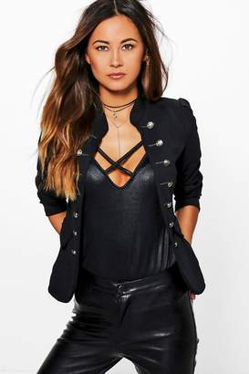 boohoo Molly Military Blazer