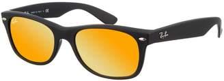 Ray-Ban Sunglasses New Wayfarer 2132 622/69 Orange Flash Mirror