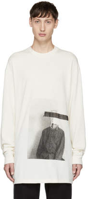 Song For The Mute Off-White Long Sleeve Bag Head T-Shirt