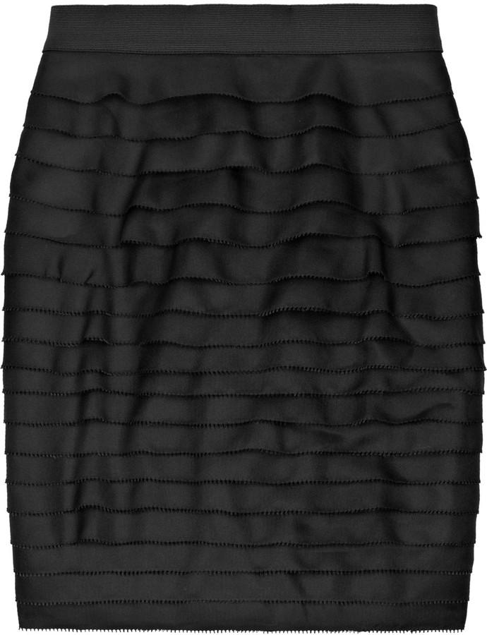 3.1 Phillip Lim Tiered silk mini skirt