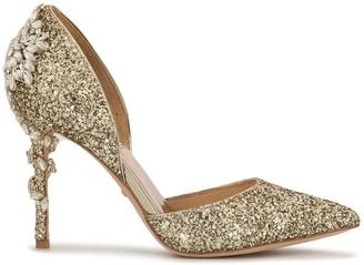 Badgley Mischka Vogue III glitter dorsay pumps
