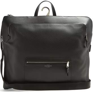 Smythson Greenwich woven-leather weekend bag