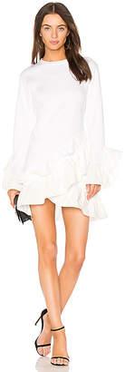 GOEN.J Poplin Ruffle Mini Dress