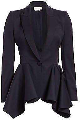 Alexander McQueen Women's Peplum One-Button Jacket