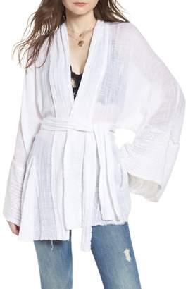 Free People Tie Wrap Kimono