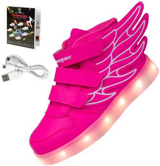 Shinmax LED Kid Shoes LED Sneakers Shoes CE certification 7 Colors Changing Flashing Sport Shoes USB charging