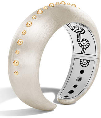 John Hardy Dot Medium Single Line Cuff Bracelet