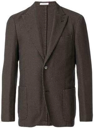 Boglioli waffle single breasted jacket