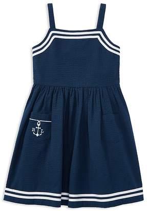 Polo Ralph Lauren Girls' Seersucker Anchor Dress - Little Kid