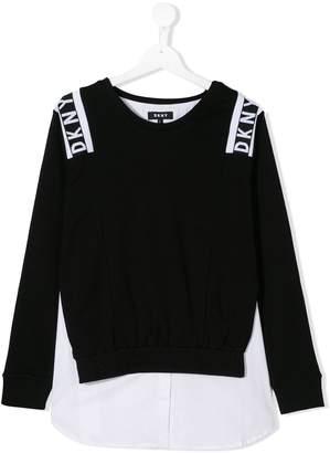 DKNY skirt-panel logo sweatshirt