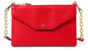 Ralph Lauren Saffiano Erika Crossbody Bag Red One Size