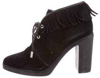 Tory Burch Fringe Pointed-Toe Booties