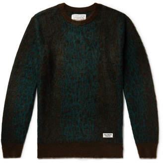 Wacko Maria Leopard-Print Mohair-Blend Sweater