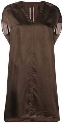 Rick Owens v-neck satin dress