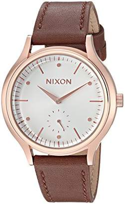 Nixon Women's 'Sala Leather' Quartz Stainless Steel Casual Watch