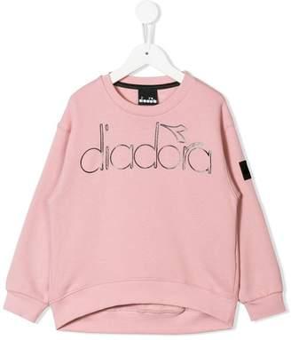 Diadora Junior logo printed sweatshirt