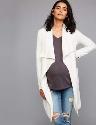 A Pea in the Pod Drape Front Cotton Woven Maternity Jacket