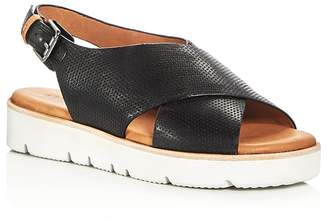 Kenneth Cole Gentle Souls Women's Kiki Perforated Leather Slingback Platform Sandals