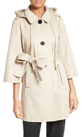 Kate Spade Women's Kate Spade New York Hooded Twill Coat