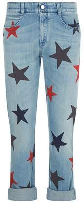 Stella McCartney Star Print Skinny Boyfriend Jeans