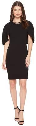 Calvin Klein Crepe Dress w/ Cape Women's Dress