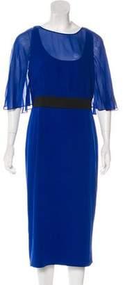 Akris Punto Silk Midi Dress