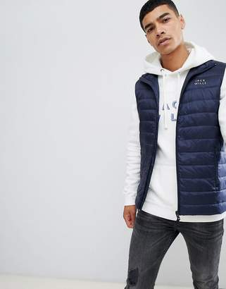Jack Wills Knole synthetic down vest in navy