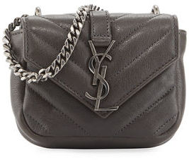 Saint Laurent College Mini Matelassé Bag $595 thestylecure.com