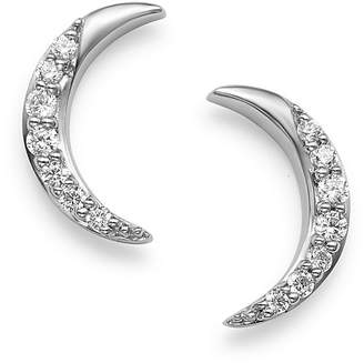 Bloomingdale's Diamond Moon Stud Earrings in 14K White Gold, 0.10 ct. t.w. - 100% Exclusive