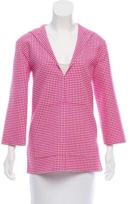 Michael Kors Gingham Hooded Tunic