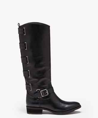 Sole Society Women's Franzie Buckled Tall Boots Black Size 5 Leather From