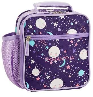 Pottery Barn Kids Classic Lunch Bag, Mackenzie Plum Moon & Stars Glow